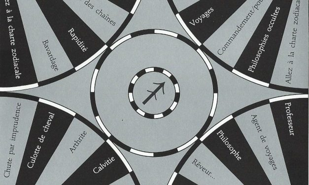Pendule : Charte du Sagittaire