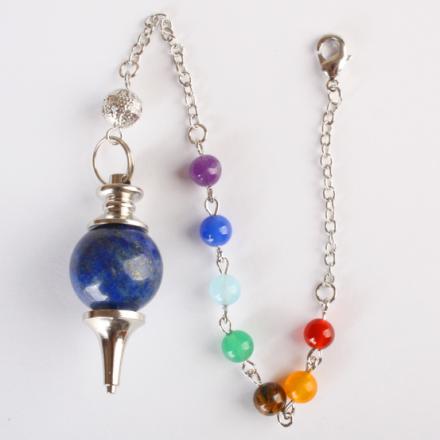 DVRDPE4.011 Pendule lapis lazuli 7 chakras