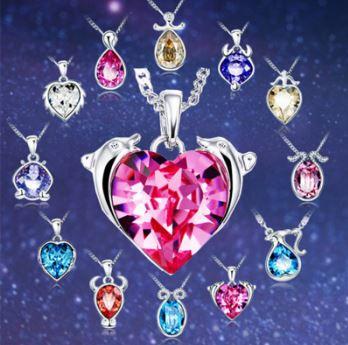 DVAS3.12 collier-avec-pendentif-en-cristal-representant-chaque-signe-du-zodiaque