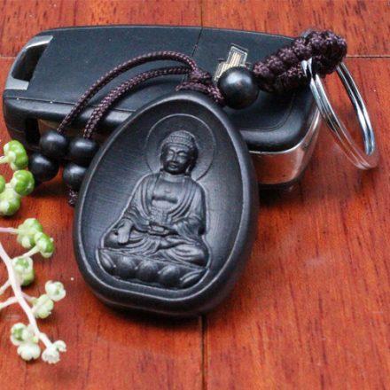 Porte Clés Bouddha de la Méditation, noir